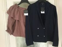 Two brand new and tagged Top Shop tops size 10
