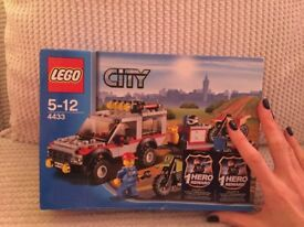 Lego City Moto-Cross 4by4, trailer & bikes. New in box.