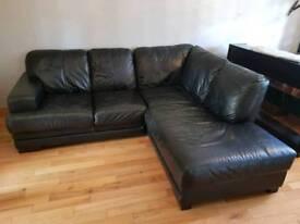 Corner leather DFS sofa