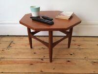Small Mid Century E Gomme G Plan Hexagonal Teak Side Table Coffee Table