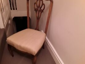 Lovely nursing chair, beige material covered seat. Lovely condition.