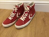 Converse Red Leather Hightops