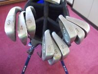 left handed golf clubs - Set of 767 Pro series irons & bag and balls
