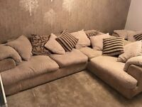 Corner couch/sofa and matching 2 seater plus footstool