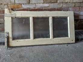 Vintage Door Window Panel for project, upcycling, vintage privacy glass, FREE
