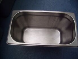 Stainless Steel Gastronorm Pan with lid Food Container Storage