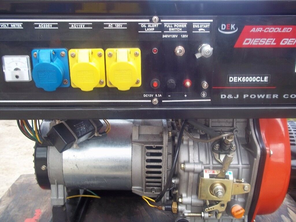 DEK6000CLE DIESEL GENERATOR KEY START AND RECOIL START