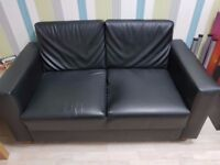 2 Seater black Sofa - Pick up from Whitechapel Office