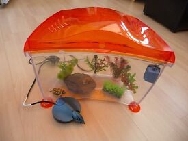 SMALL FISH/REPTILE TANK WITH ACCESSORIES REDUCED FOR QUICK SALE