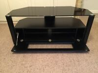 John Lewis Glass Top TV Stand - Black