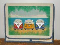 Canvas Shoulder Bag with VW Camper Van Pattern Brand New