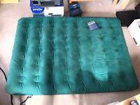 Inflatable airbed & foot pump - sleeps 2