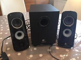 Logitech Stereo Speakers and Subwoofer