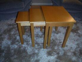 Nest of Tables - Beech Wood - Set of Three