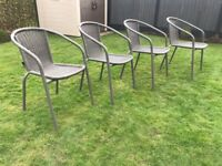 Patio / garden chairs - grey set of 4