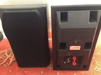 Mission Speakers, in dark wood, excellent condition