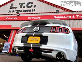 Proflow Exhausts Mustang GT (5ltr) fitted with Custom Stainless Dual Rear with Single Tip Tailpipes