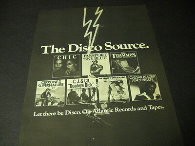 DISCO SOURCE 1978 Promo Ad CHIC Trammps DETROIT EMERALDS Caesar Frazier others