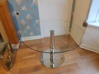 Glass dining table and 4 chairs from Marks and Spencer