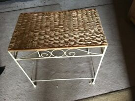 Occasional Table - Cream Metal Frame