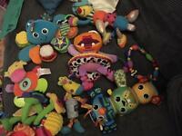 Baby toys (Lamaze,nuby, elc)