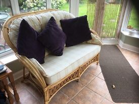 Conservatory cane suite and coffee table