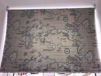 Roller window blind world map