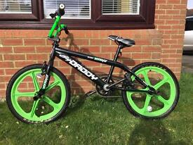 BMX - Rooster Big Daddy 20 Black/Green with Skyway Mag Wheels