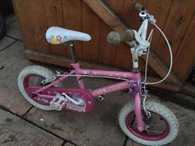 "Girls Bike. 12.5"" Wheels, 8"" Frame. Good condition."