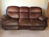 FREE Really comfortable reclining 3 piece suite-photos do not do it justice