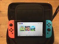 Nintendo Switch with Zelda Breath of the Wild