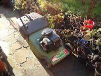 Hayter petrol Mower (full working order) Roller on the Back
