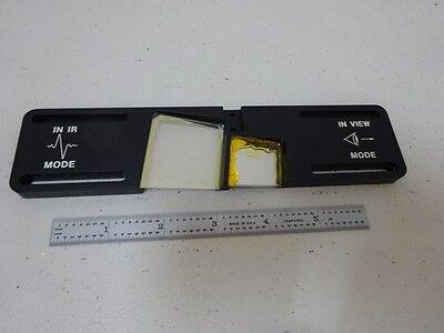 Microscope Part Infrared Slide Spectra Tech Optics As Is Binn6-92