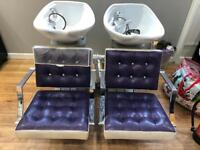 Hairdressing chairs & basins