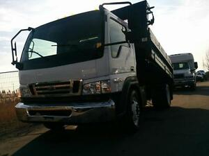 2009 Ford LCF Cabover Dump truck with Salter