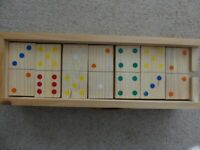 Wooden Dominoes suitable for Outdoors or Indoors in excellent condition.