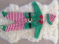santa's little helper baby outfit 3-6mths