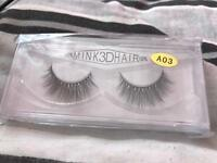 2 PAIRS OF 3D MINK HAIR EYELASHES, BRAND NEW