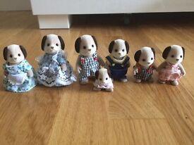 Sylvanian Dog family bundle of 7