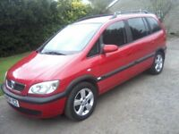 VAUXHALL ZAFIRA 1-6 ENERGY 16v 5-DOOR MPV 7-SEATER 2004. 95,000 MILES, 2 PREVIOUS OWNERS, BRIGHT RED