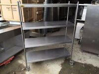 CATERING COMMERCIAL SHELVING RACK RESTAURANT CUISINE FAST FOOD SANDWICH TAKE AWAY KITCHEN CAFE SHOP