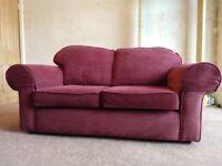 Sofa & Armchair - Burgundy