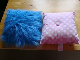 Pair of lovely cushions, ideal for kids room only £1