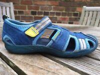 VGC Vegan Pediped Flex Sahara washable Adventure sandal. Size 10-10.5 UK. Blue Sky. RRP £38