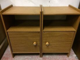 Pair Of Wooden Bedside Cabinets