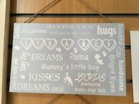 HANGING BABY PLAQUES