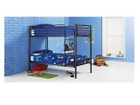 Brand New Black Shorty Single Bunk Beds with Mattresses