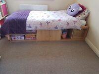 Single bed & matress with under storage