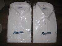 Two Brand New White Mandate Short Sleeve Shirts - £5.00 each