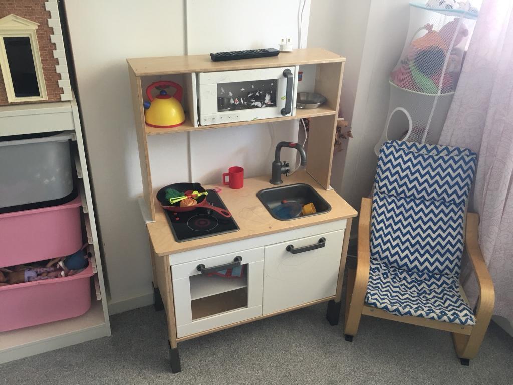 Ikea play kitchen DUKTIG and play food | in Brixton, London | Gumtree